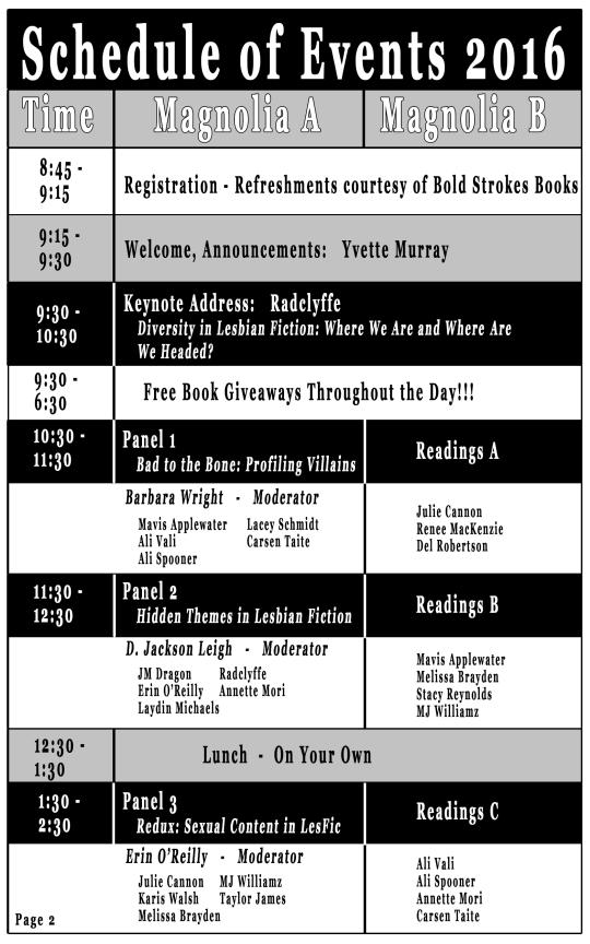 Schedule pg 2