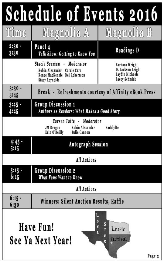 Schedule pg 3